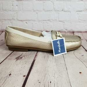Aerosoles Loafer Gold Metallic Casual Dress Shoes